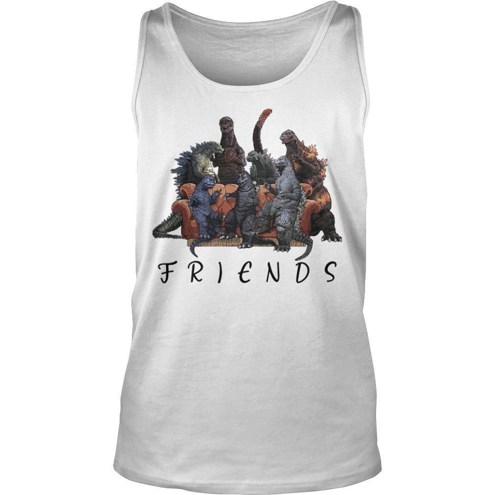 Godzilla Tv Show Friends Tank Top