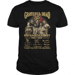Grateful Dead 55th Anniversary 1965 2020 Signatures Shirt