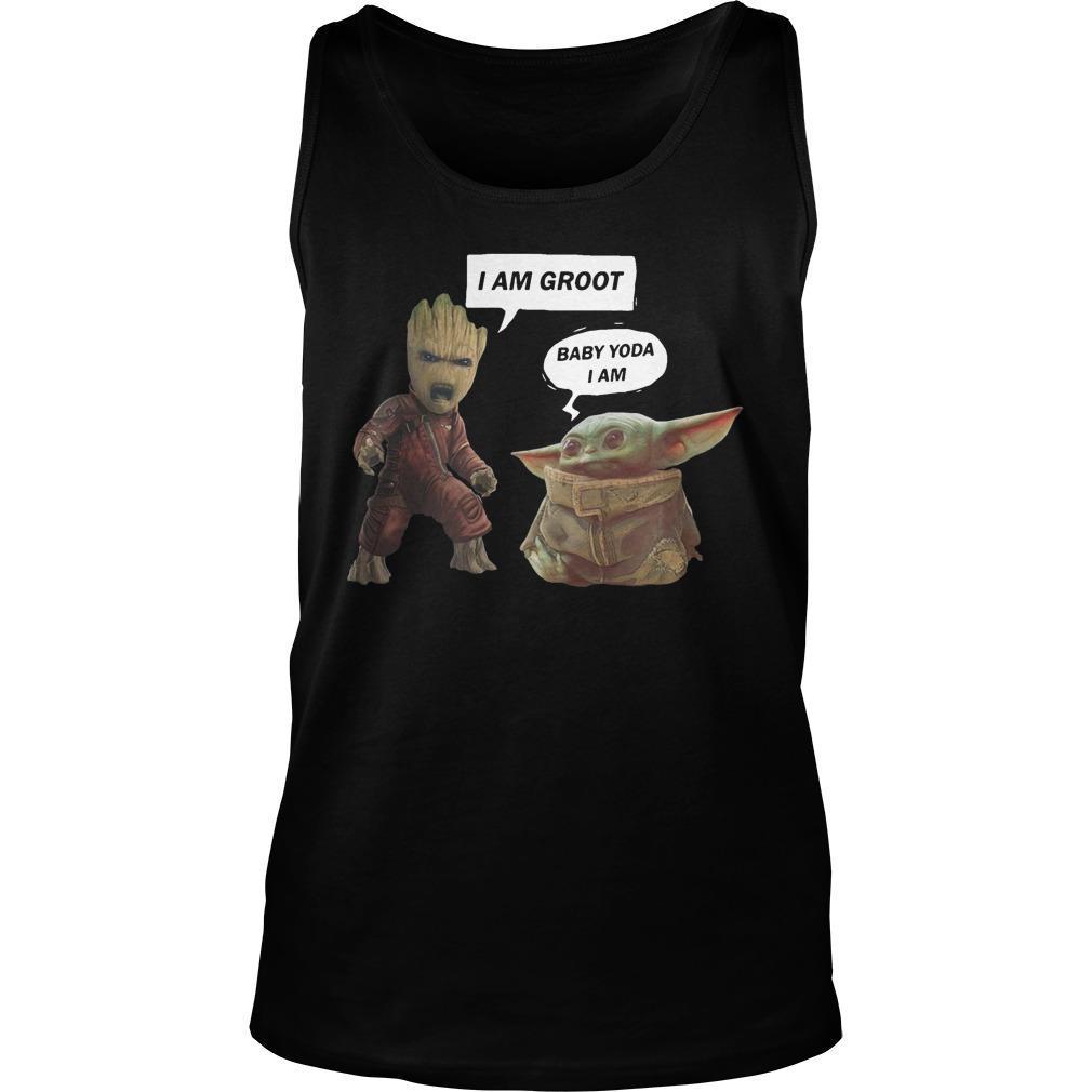 I Am Groot Baby Yoda I Am Tank Top