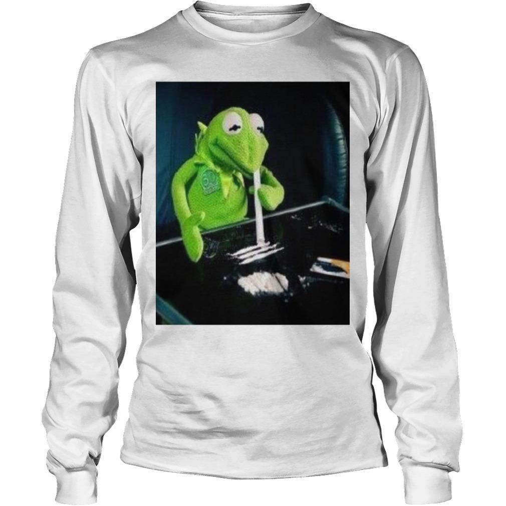 Kermit The Frog Doing Coke Longsleeve
