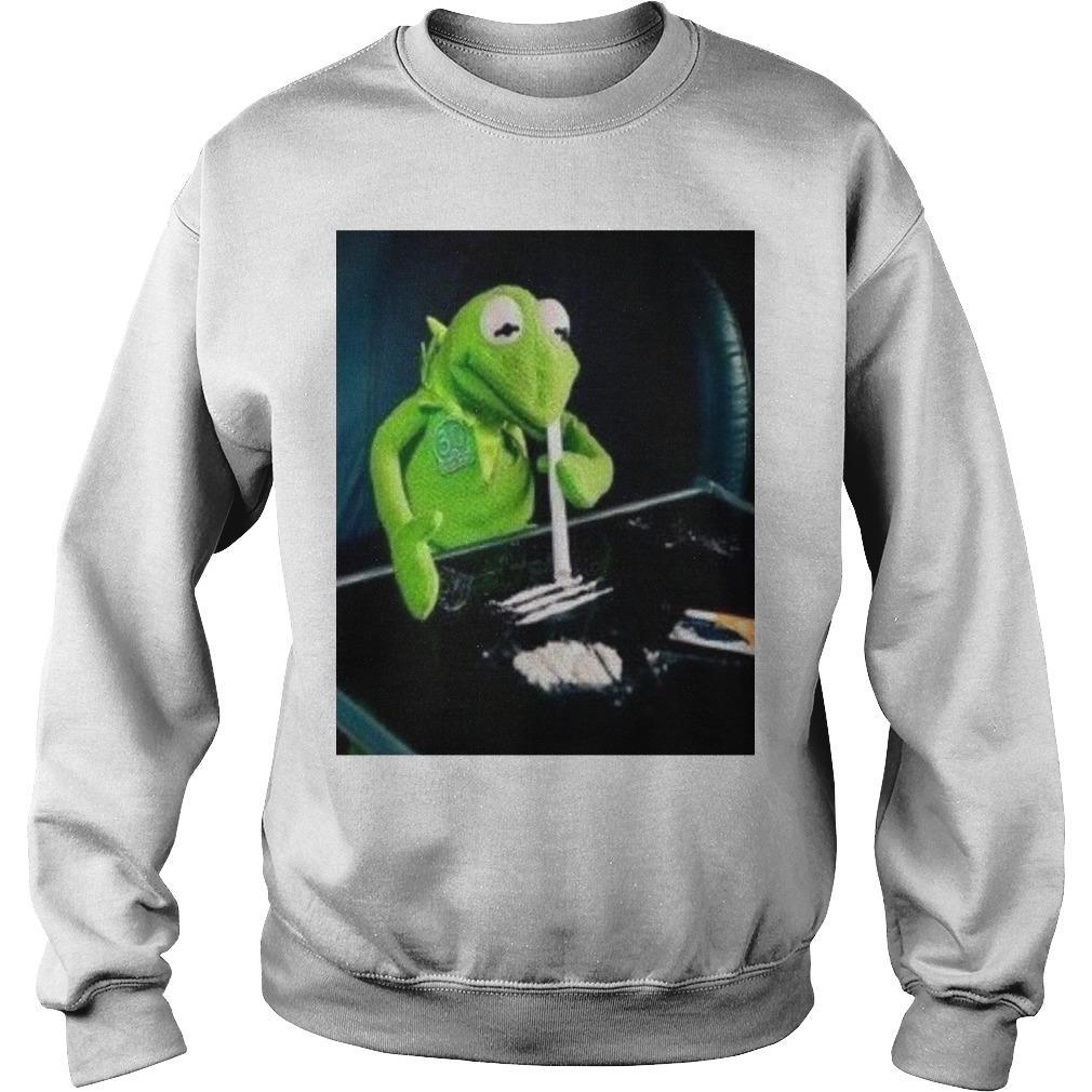 Kermit The Frog Doing Coke Sweater