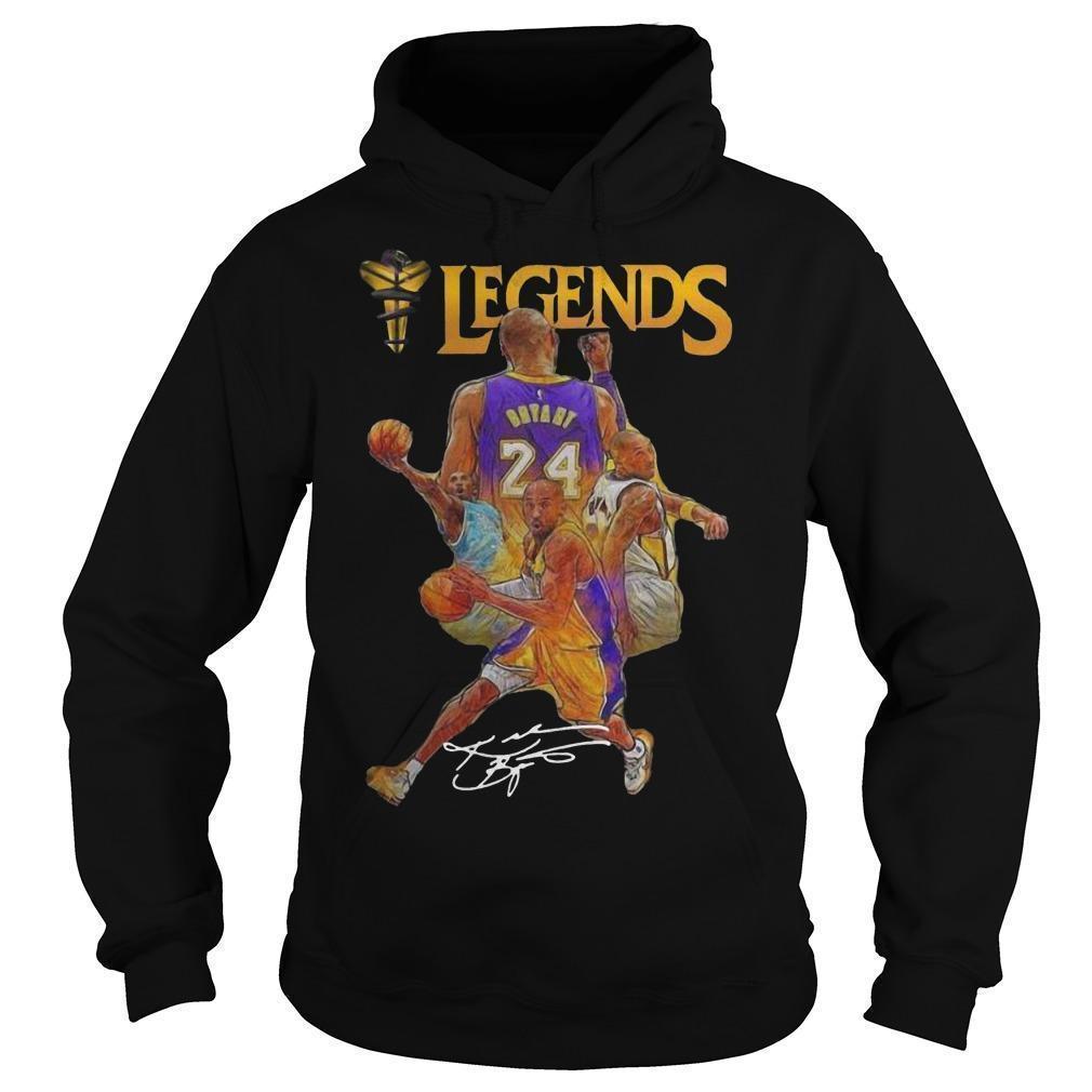 Kobe Bryant 24 Legends Signature Los Angeles Lakers Hoodie
