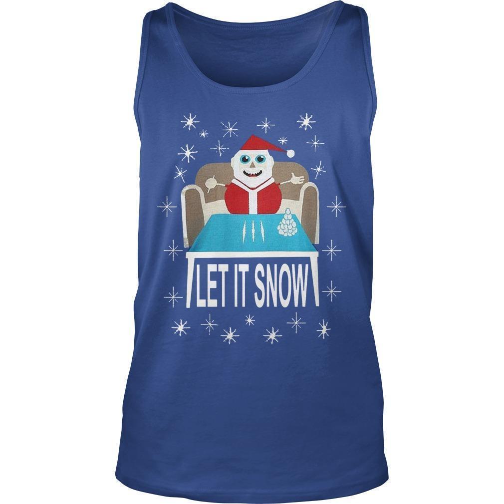 Let It Snow Santa Sweatshirt Tank Top