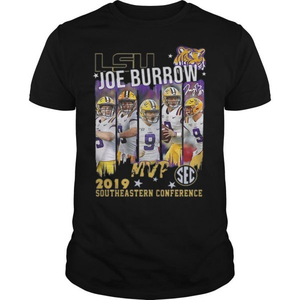 Lsu Joe Burrow Mvp 2019 Southeastern Conference Shirt