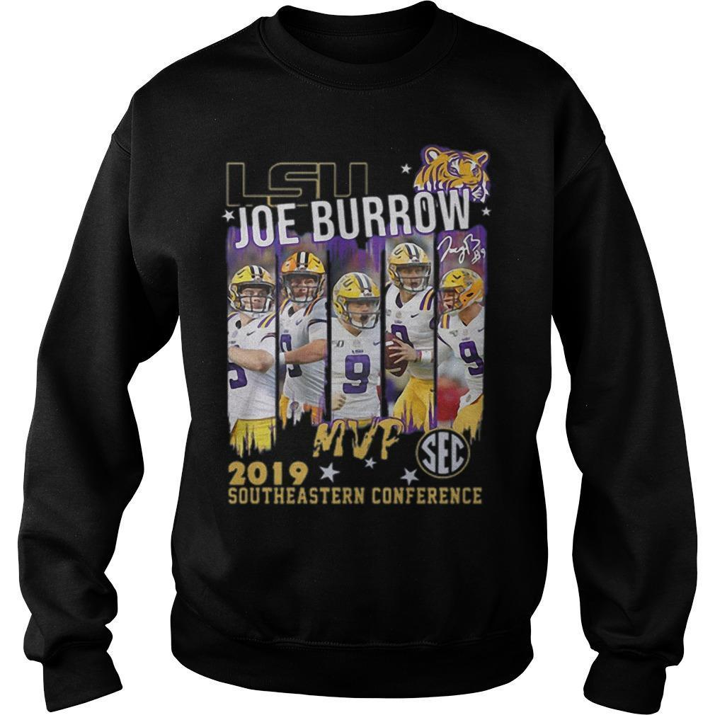 Lsu Joe Burrow Mvp 2019 Southeastern Conference Sweater