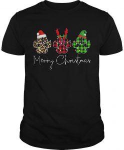 Merry Christmas Dog Paw Shirt