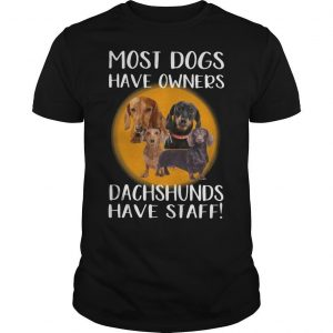 Most Dogs Have Owners Dachshunds Have Staff Shirt