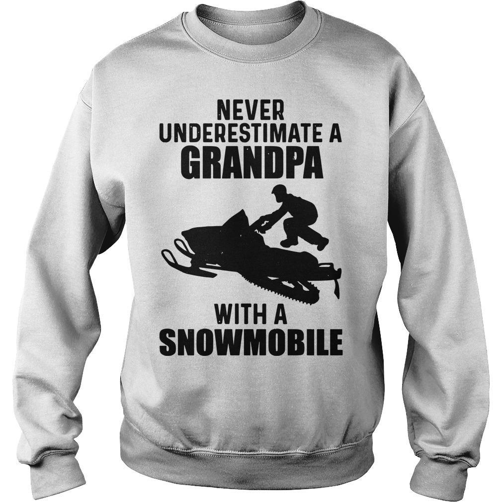 Never Underestimate A Grandpa With A Snowmobile Sweater
