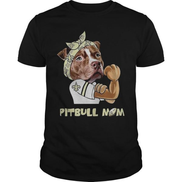 New Orleans Saints Pitbull Mom Shirt