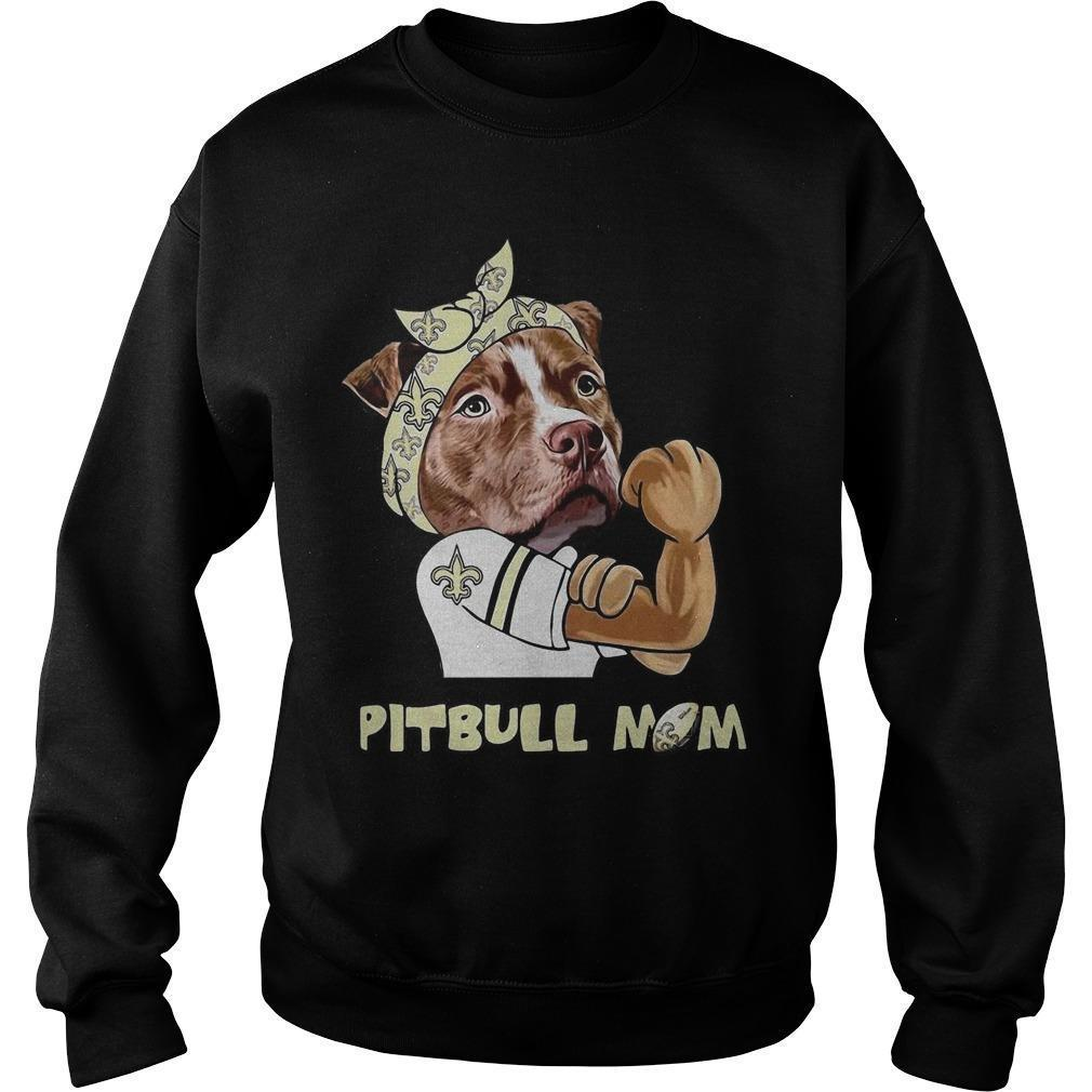 New Orleans Saints Pitbull Mom Sweater