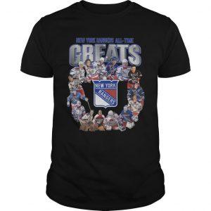 New York Rangers All Time Greats Shirt