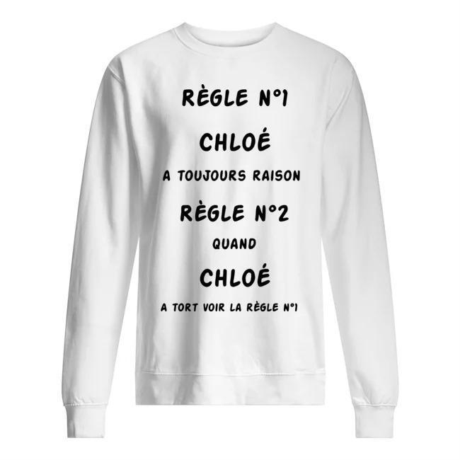 Règle Nº1 Chloé A Toujours Raison Règle Nº2 Quand Chloé Sweater