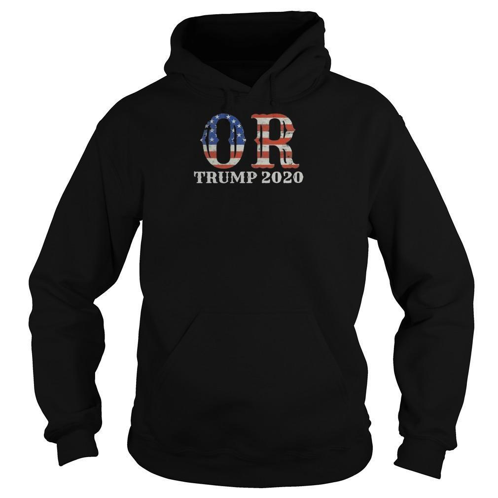 Reelection Oregon Proud Voter Usa Flag Trump 2020 Hoodie
