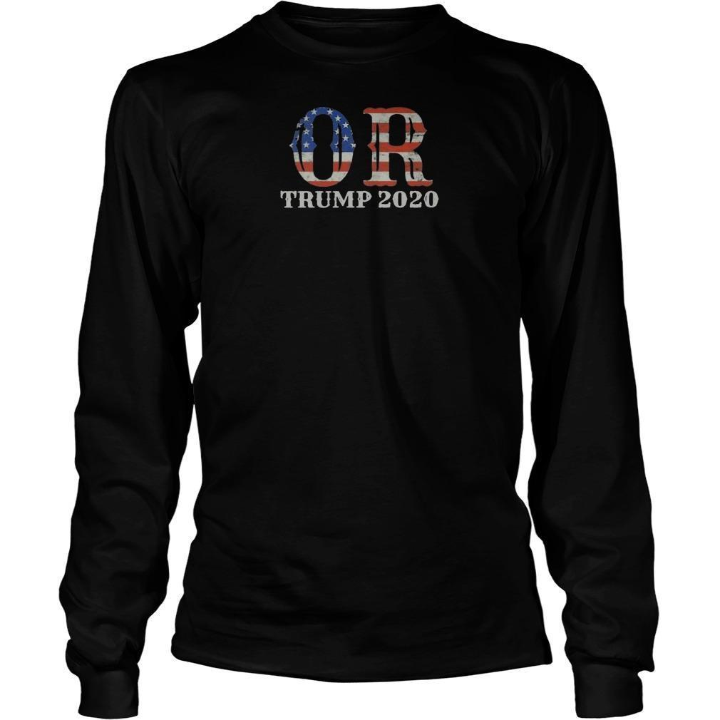 Reelection Oregon Proud Voter Usa Flag Trump 2020 Longsleeve