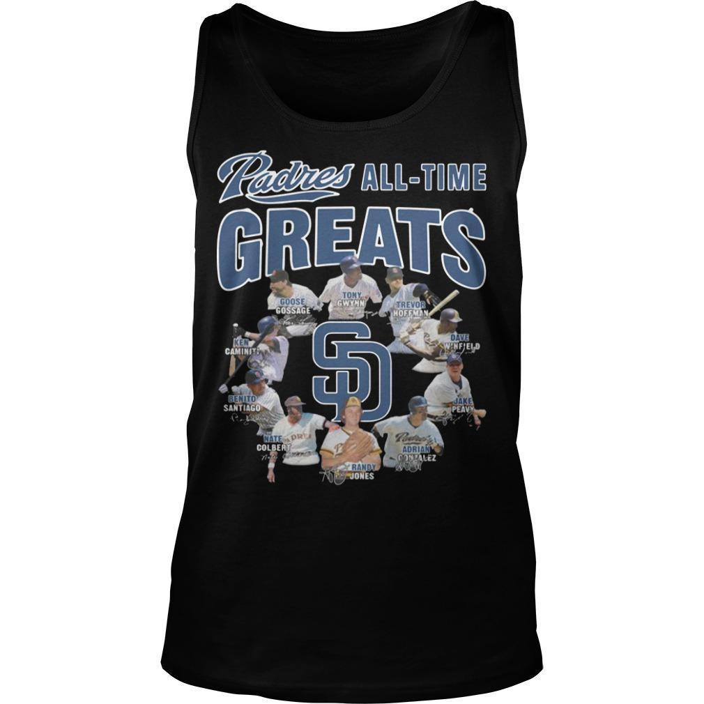 San Diego Padres All Time Greats Tank Top
