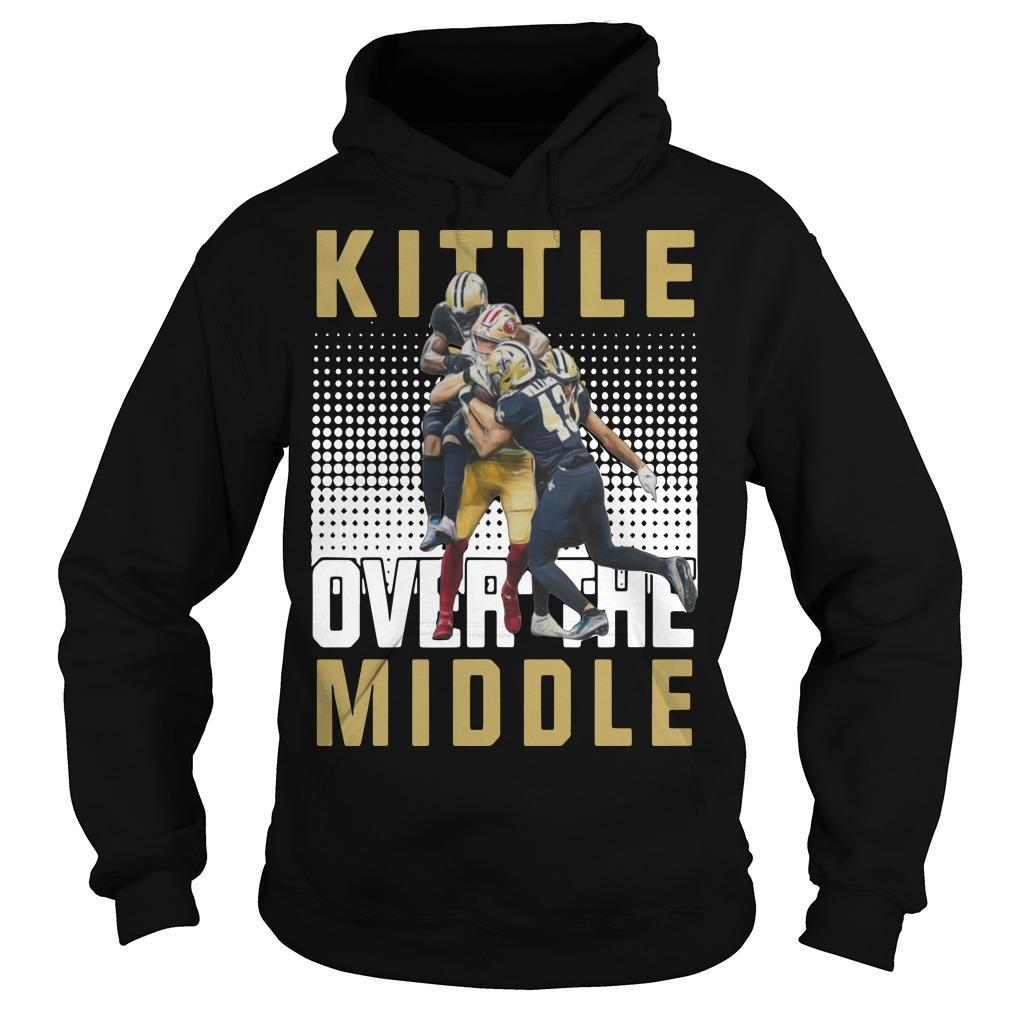 San Francisco 49ers And New Orleans Saints Kittle Over The Middle Hoodie