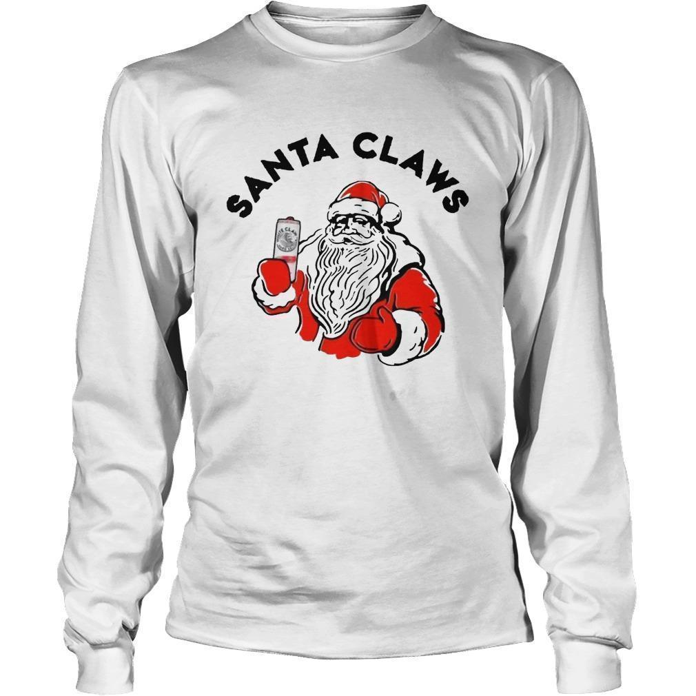 Santa Claus Drinking White Claw Longsleeve