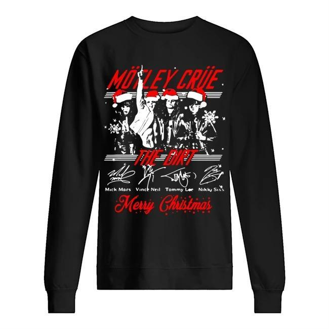 Santa Motley Crue The Dirt Merry Christmas Signatures Sweater