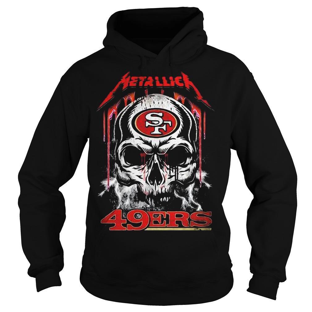 Skull San Francisco 49ers Kiss Hoodie