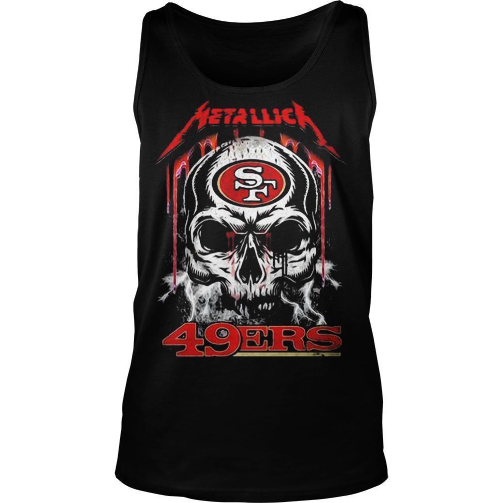 Skull San Francisco 49ers Kiss Tank Top