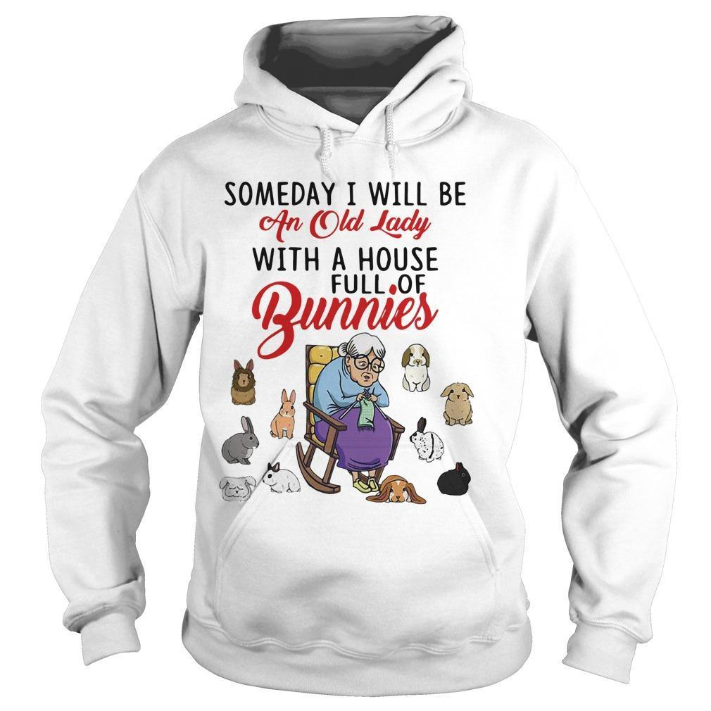 Someday I Will Be An Old Lady With A House Full Of Bunnies Hoodie