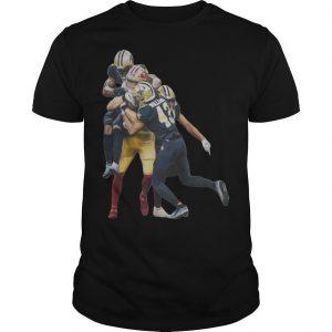 Sprint Football San Francisco 49ers And New Orleans Saints Players Shirt