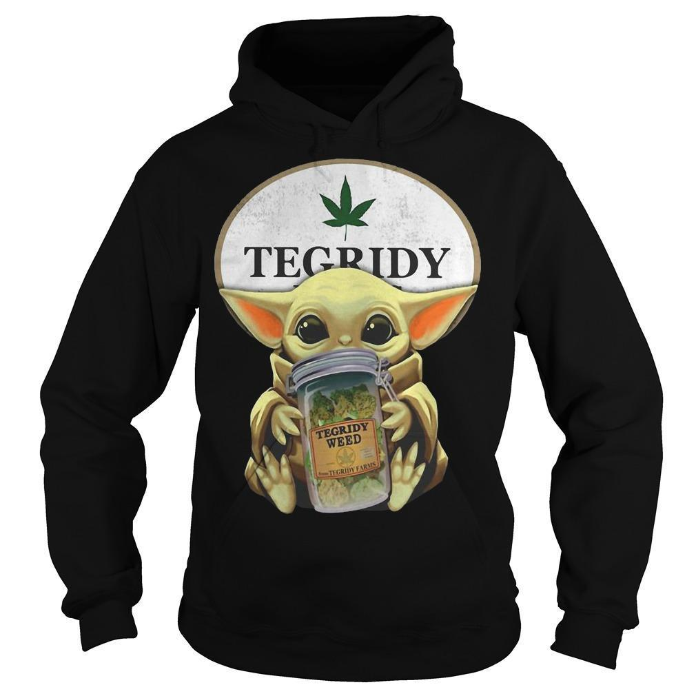 Star Wars Baby Yoda Hugging Tegridy Weed Hoodie