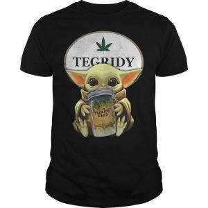 Star Wars Baby Yoda Hugging Tegridy Weed Shirt