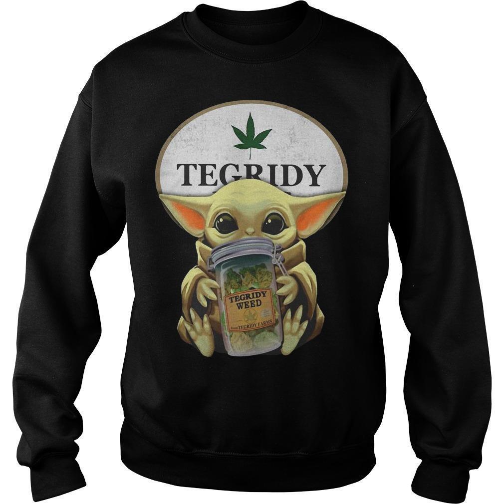 Star Wars Baby Yoda Hugging Tegridy Weed Sweater