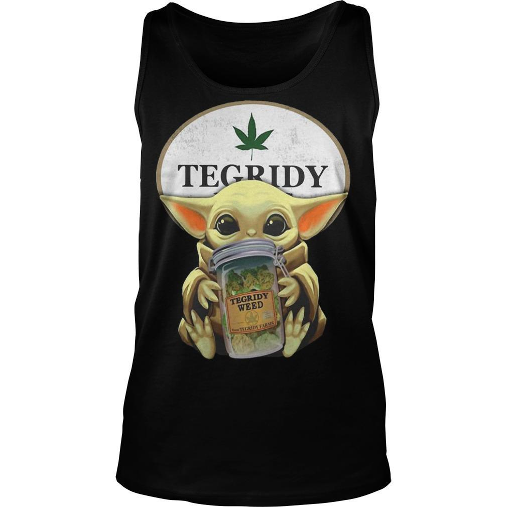 Star Wars Baby Yoda Hugging Tegridy Weed Tank Top