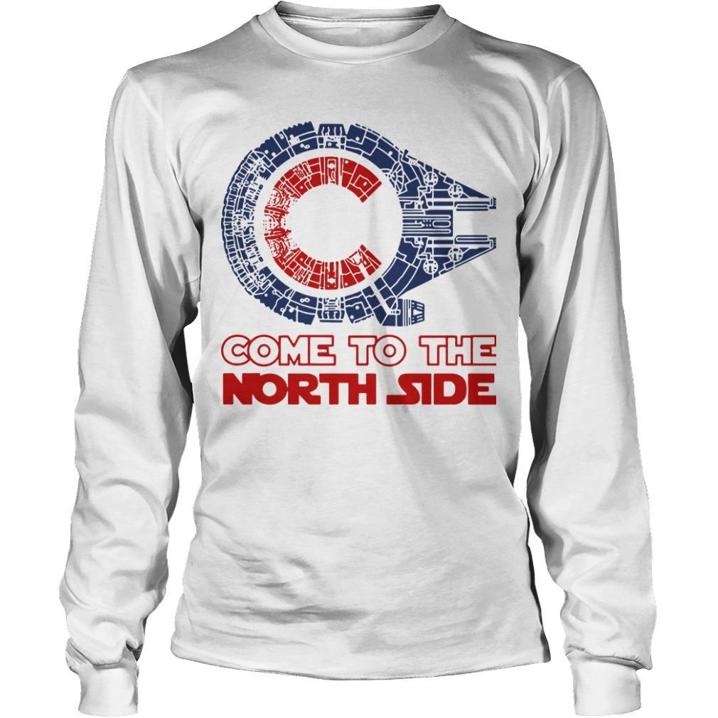 Star Wars Millennium Falcon Chicago Cubs Come To The North Side Longsleeve