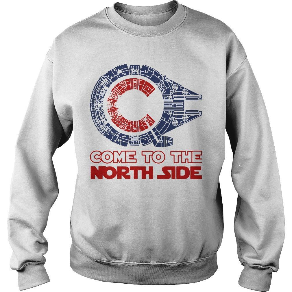 Star Wars Millennium Falcon Chicago Cubs Come To The North Side Sweater