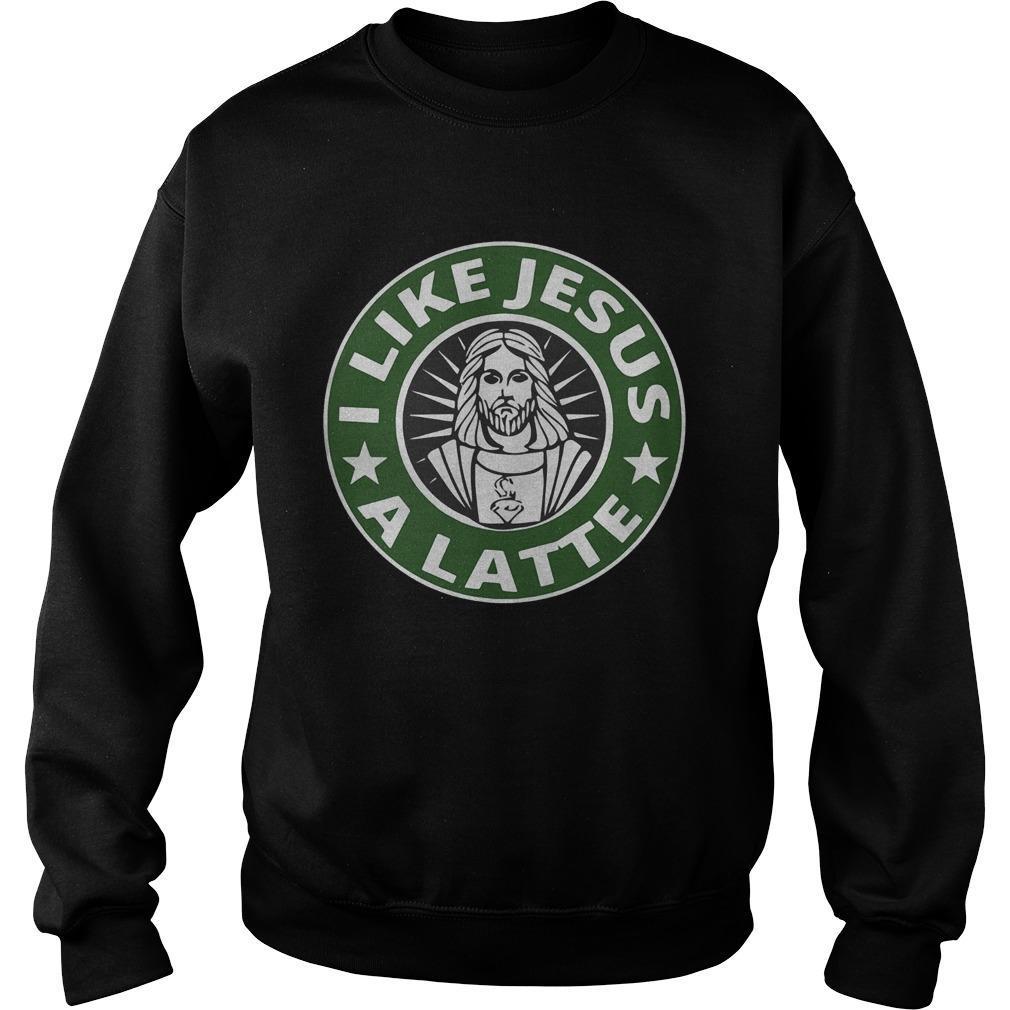 Starbucks I Like Jesus A Latte Sweater
