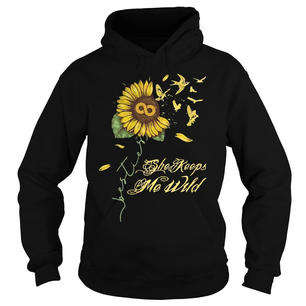 Sunflower She Keeps Me Wild Hoodie