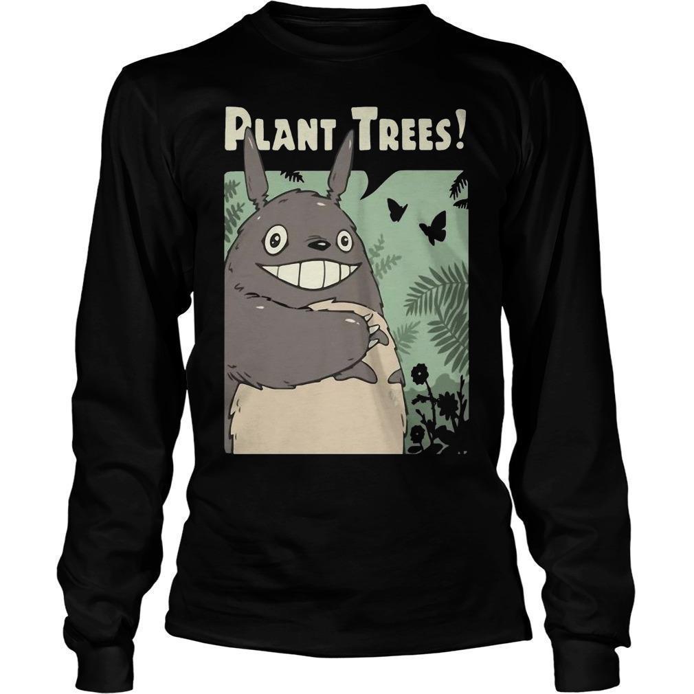 Totoro Plant Trees Longsleeve