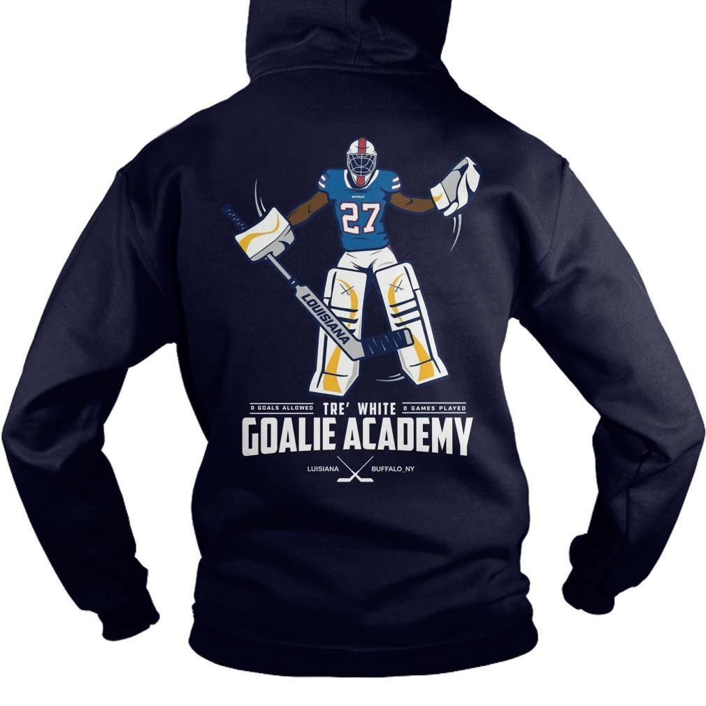 Tre White Goalie Academy Hoodie