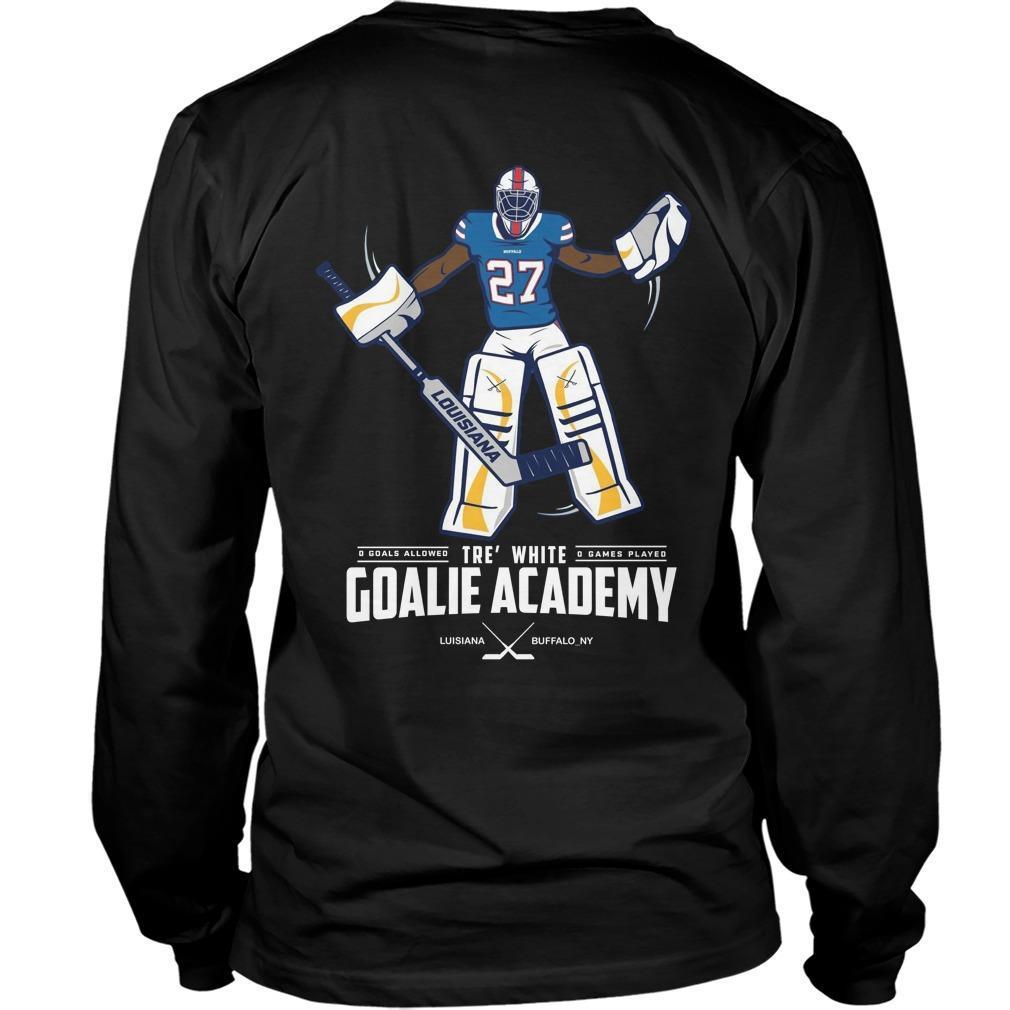 Tre White Goalie Academy Longsleeve