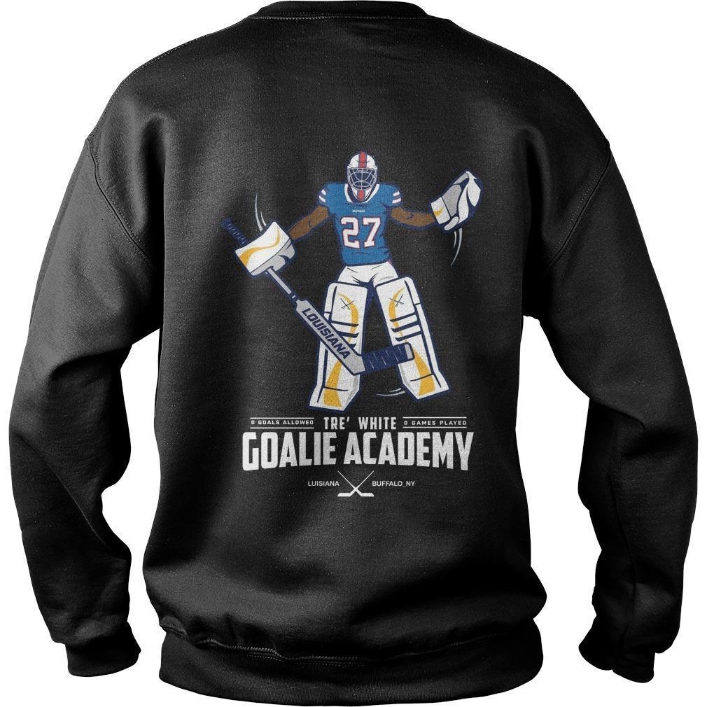 Tre White Goalie Academy Sweater