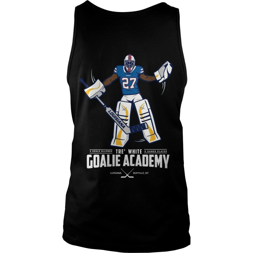 Tre White Goalie Academy Tank Top