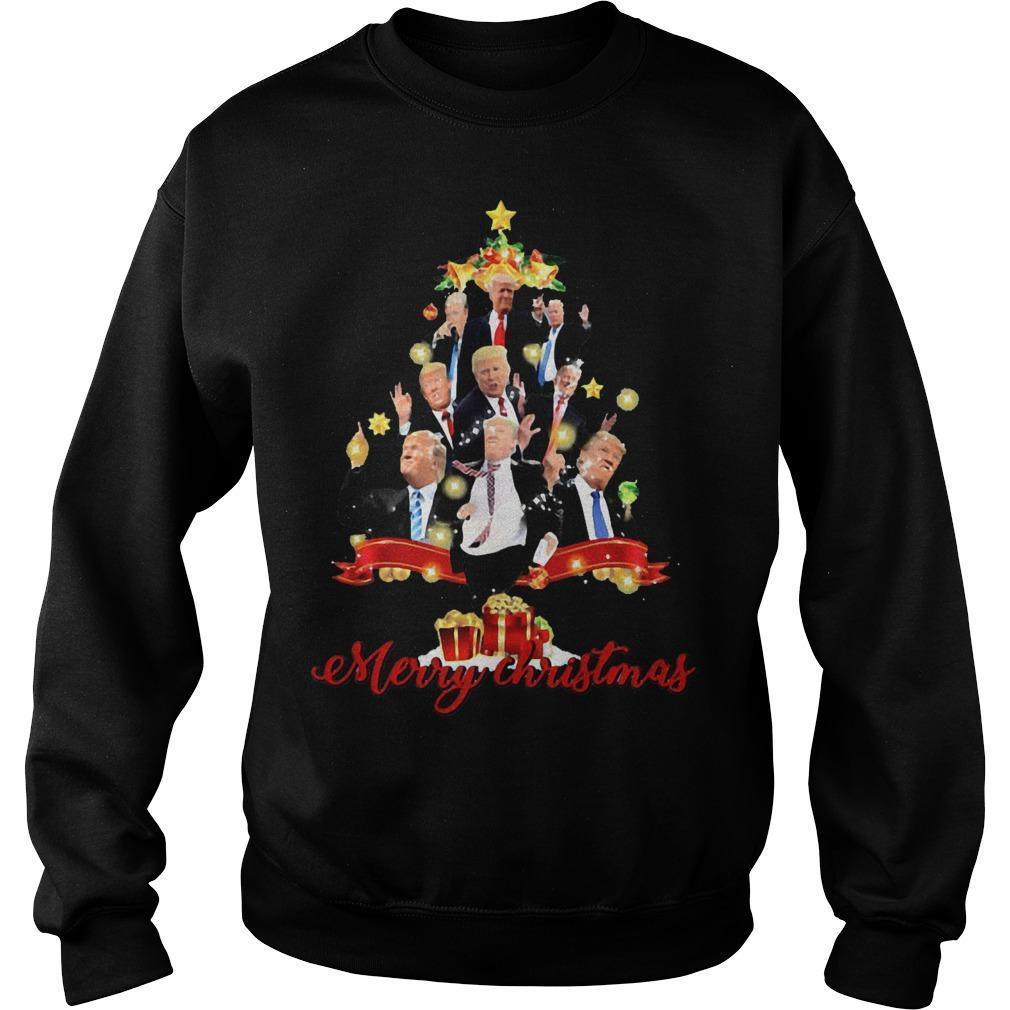 Trump Christmas Tree Merry Christmas Sweater