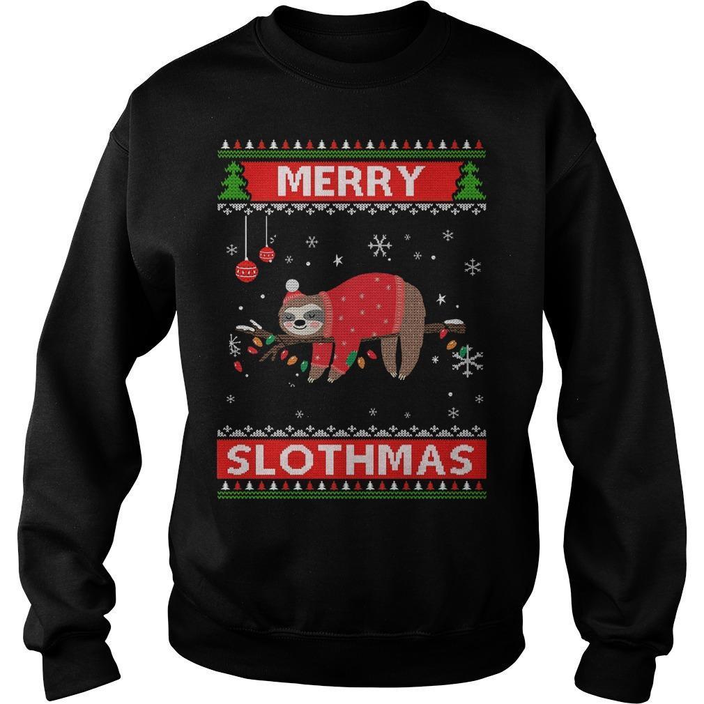 Ugly Christmas Merry Slothmas Sweater