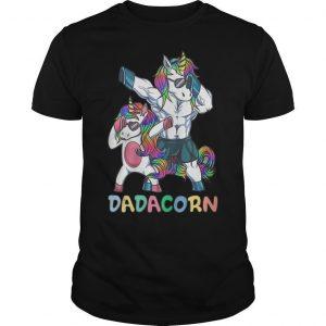 Unicorn Dabbing Dadacorn Shirt