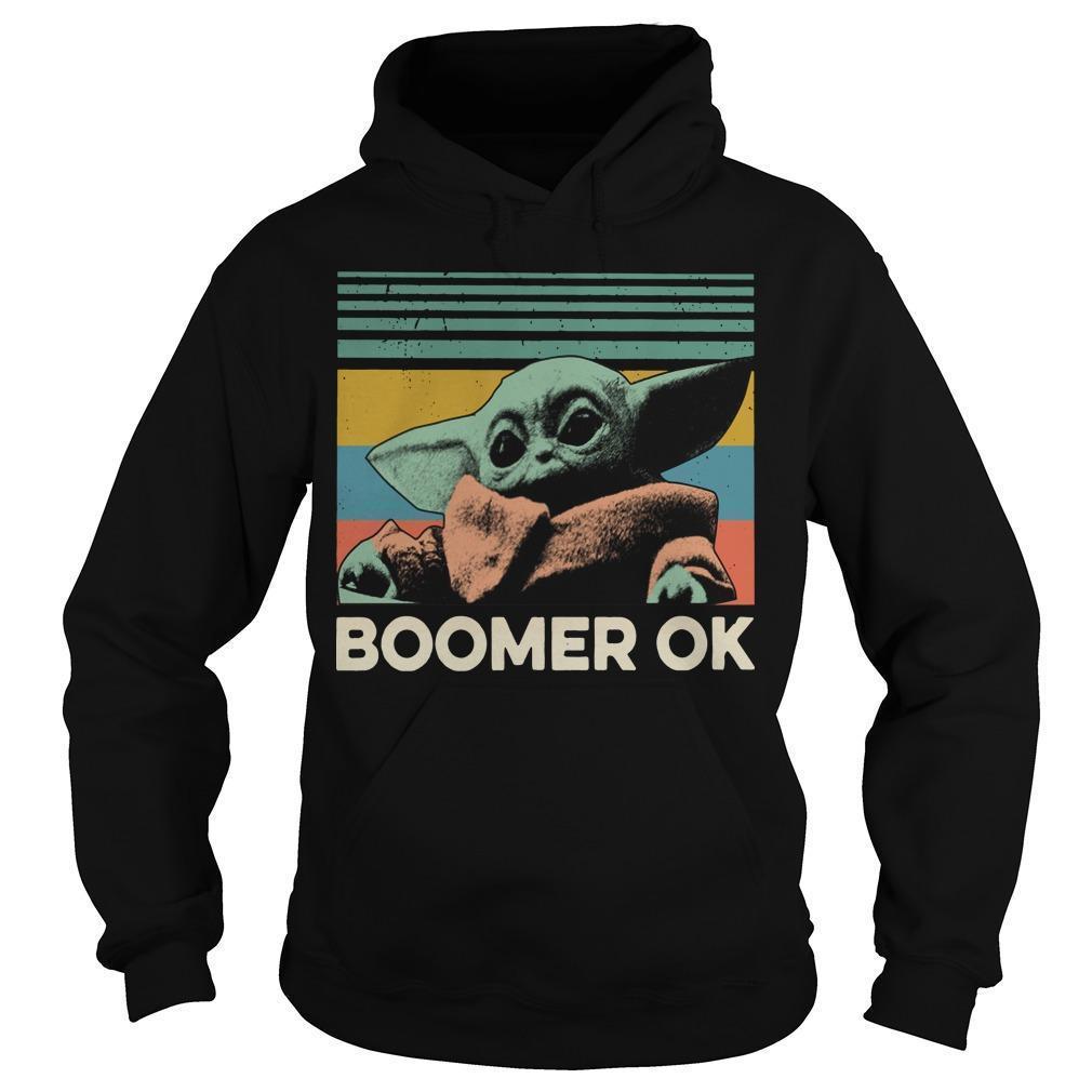 Vintage Baby Yoda Boomer Ok Hoodie