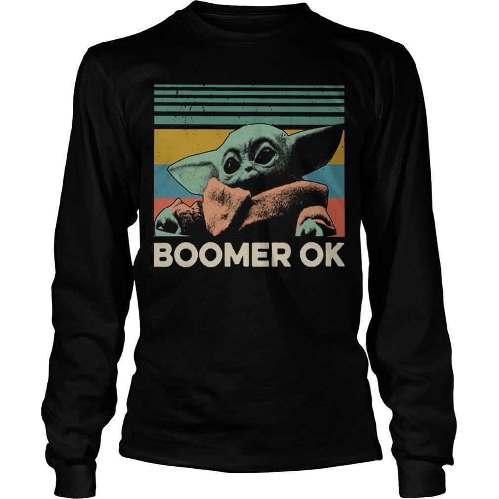 Vintage Baby Yoda Boomer Ok Longsleeve