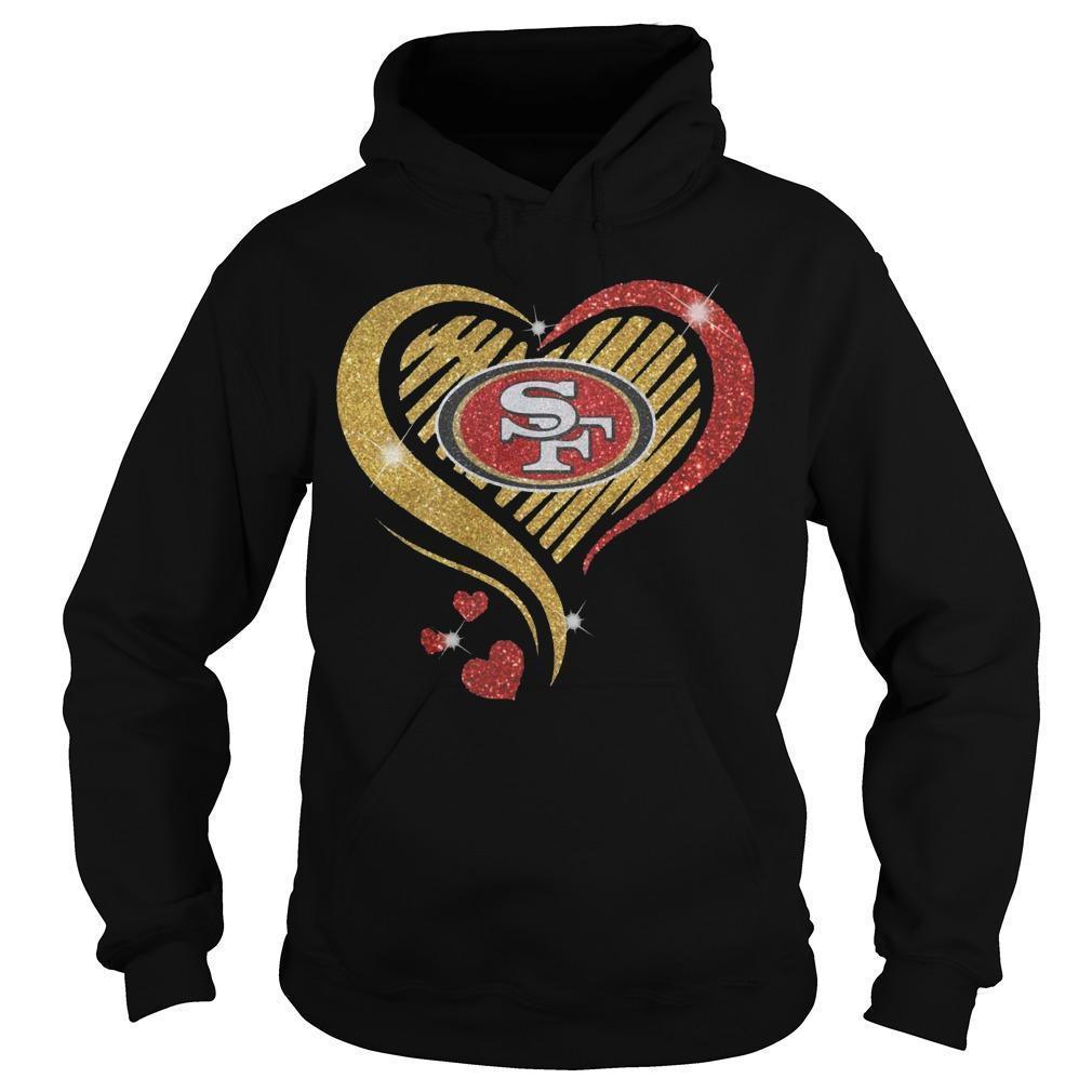 Ysmile Heart San Francisco 49ers Hoodie