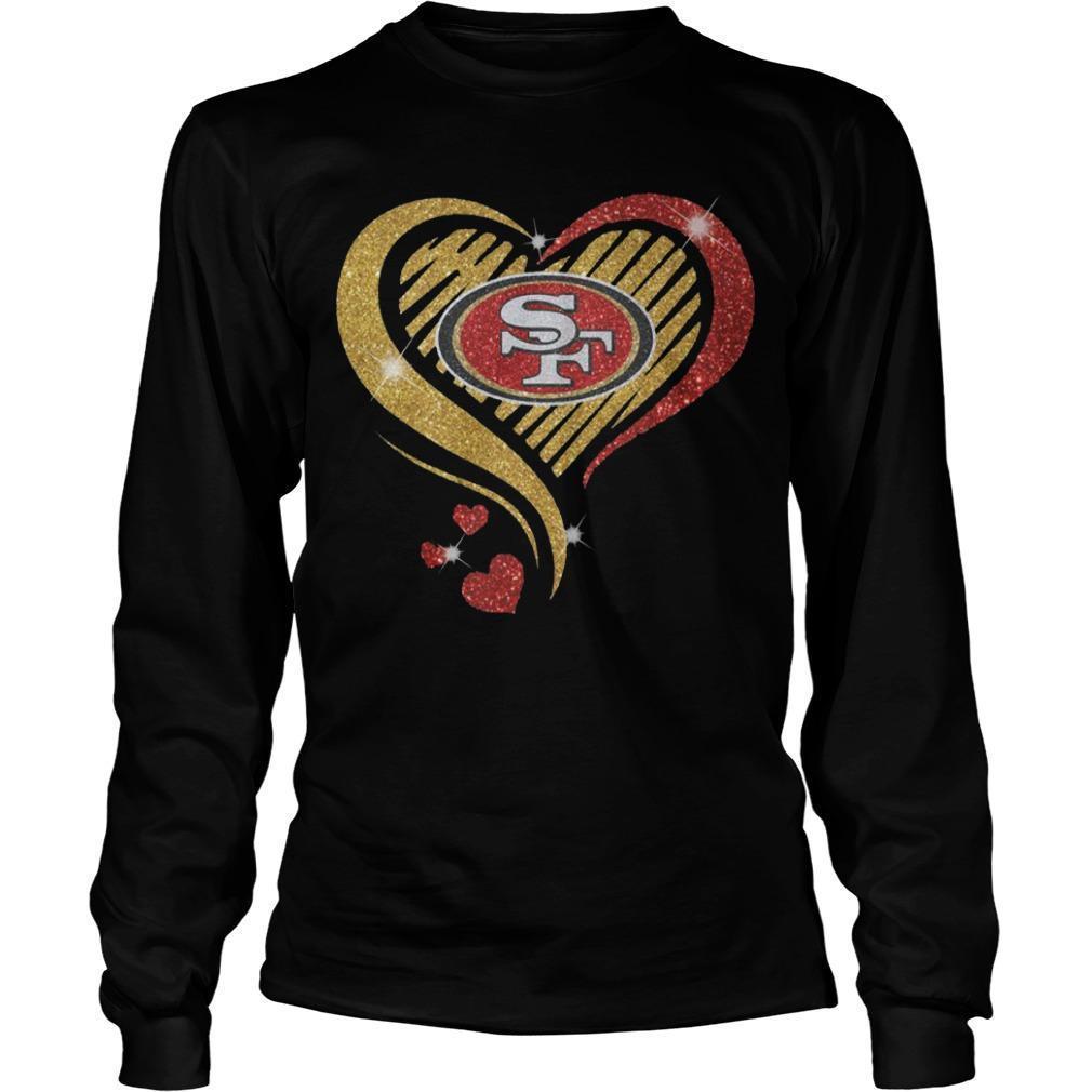 Ysmile Heart San Francisco 49ers Longsleeve