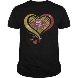 Ysmile Heart San Francisco 49ers Shirt