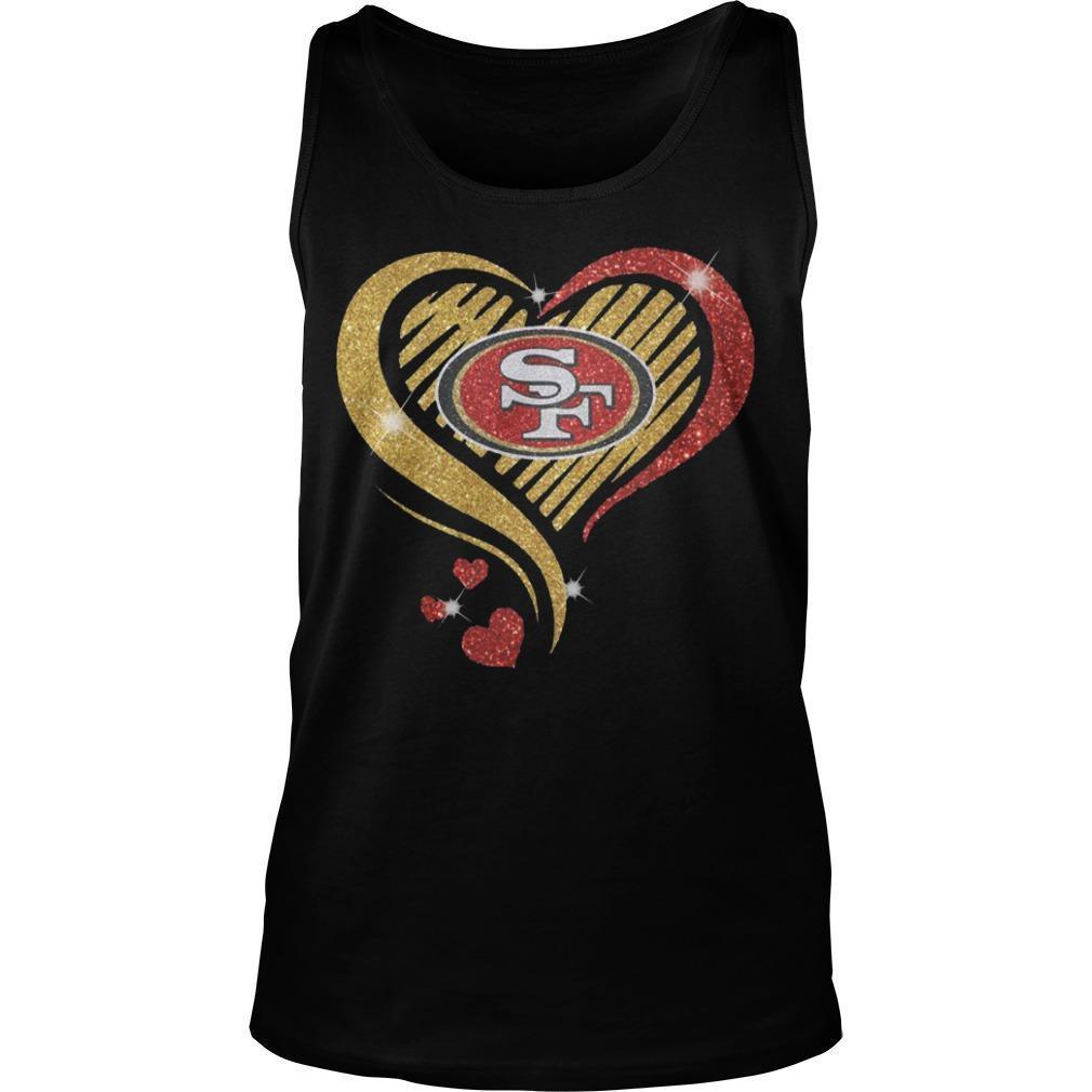 Ysmile Heart San Francisco 49ers Tank Top
