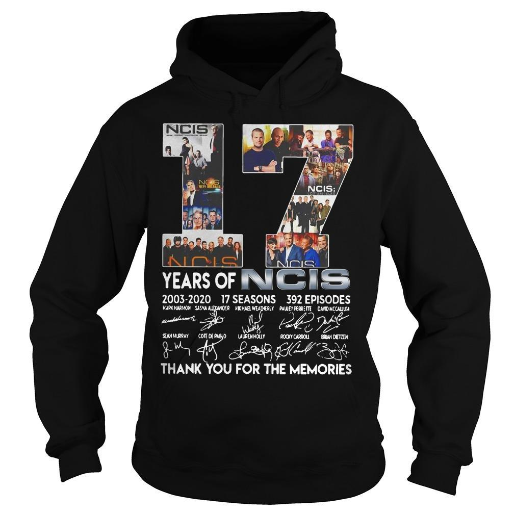 17 Years Of Ncis Thank You For The Memories Signatures Hoodie