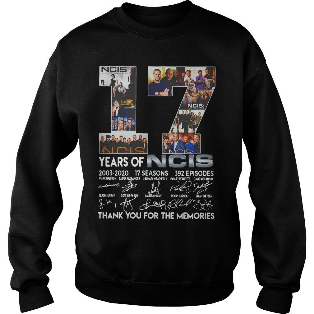 17 Years Of Ncis Thank You For The Memories Signatures Sweater